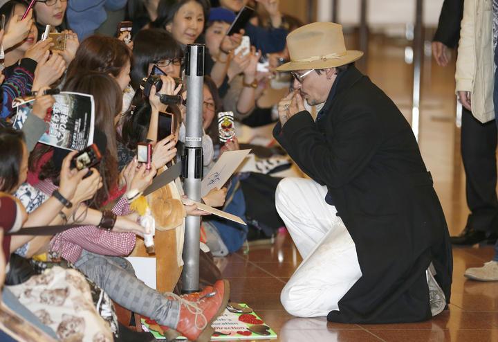 Depp desata locura en Japón