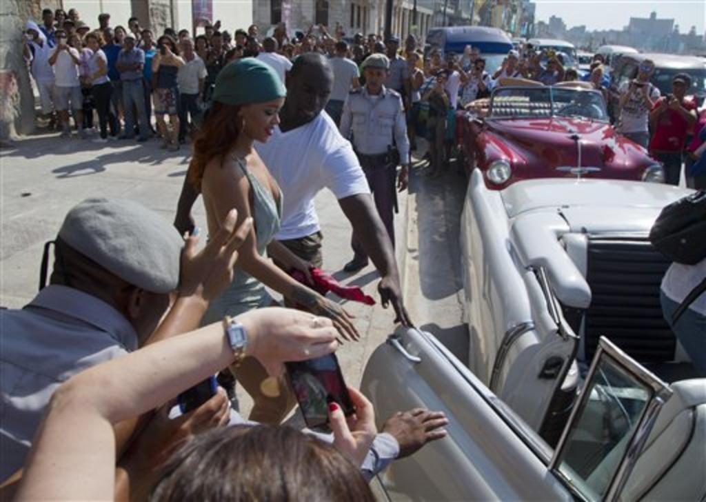 Rihanna alborota a Cuba